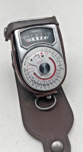 Minette light meter with case and folding incident cover